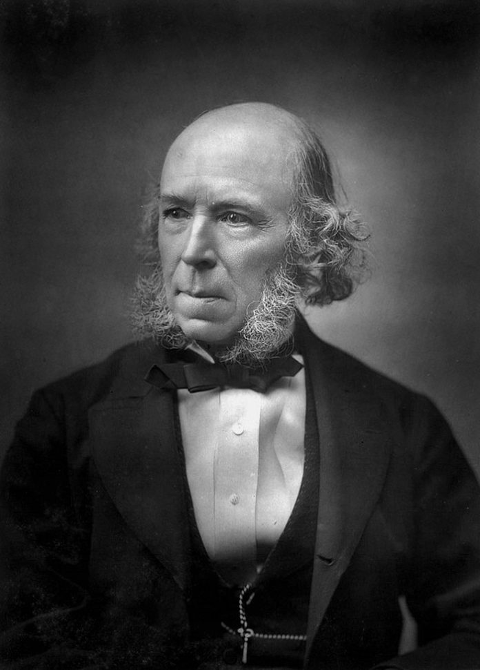Herbert Spencer by photographer Herbert Rose Barraud, Biography and contribution