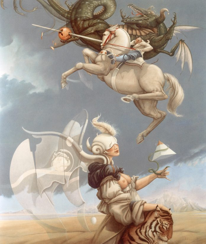 Surrealism artwork by Michael Parkes, boosting creativity