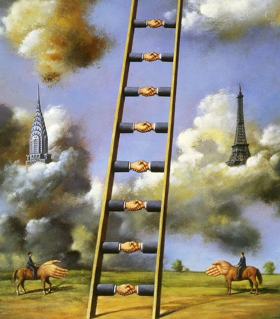 Rafael Olbinski. Surrealism art.