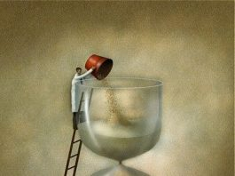 Vladimir Kush. Parable about time