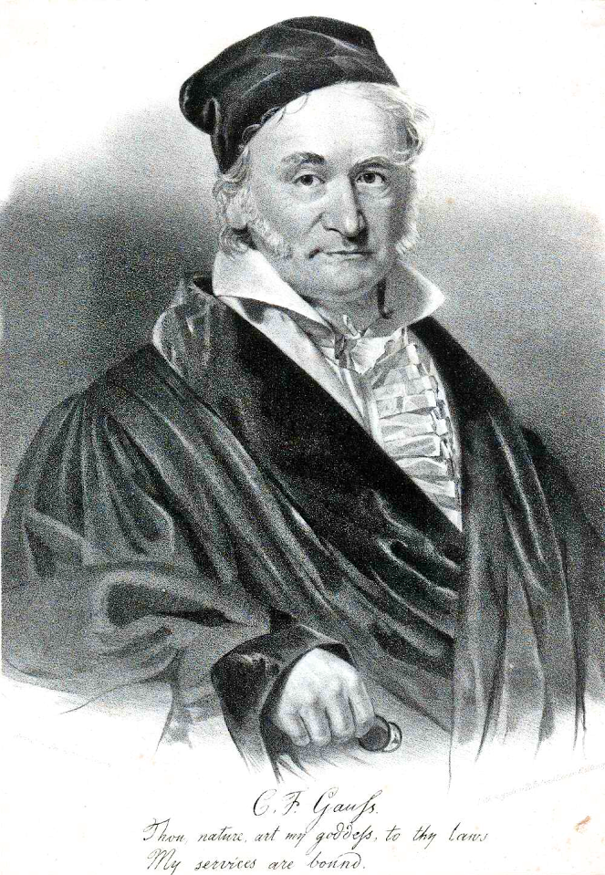 Gauss. German mathematician