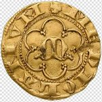 Ancient gold coin. Creative Puzzle